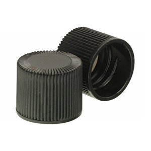 Wheaton 240414 18-415 Caps, Black Caps, PTFE Liner, case/200