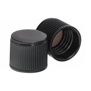 15-415 Caps, Phenolic Black Caps, PTFE Liner, case/200