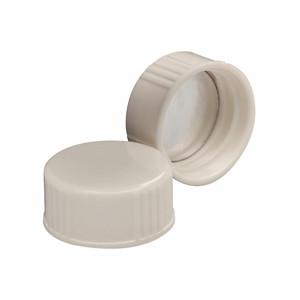 Wheaton 22-400 Caps, Urea White, Foil Liner, case/1000