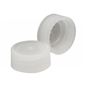 Wheaton 241317 22-400 Caps, Polyethylene Lined Natural, Linerless, case/1000