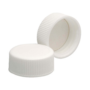 24-400 Caps, PP White, Foamed Poly Liner, case/200