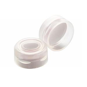 11mm Autosampler Snap Cap, Clear, PTFE Liner, case/1000