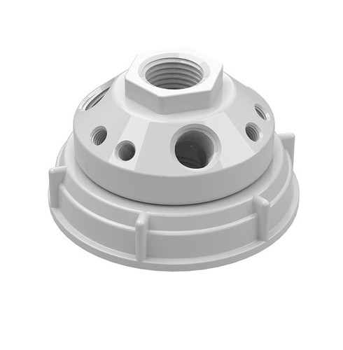 70mm Rieke/ Hedwin 10-Port Cap, PTFE Manifold for 5 gal Drums
