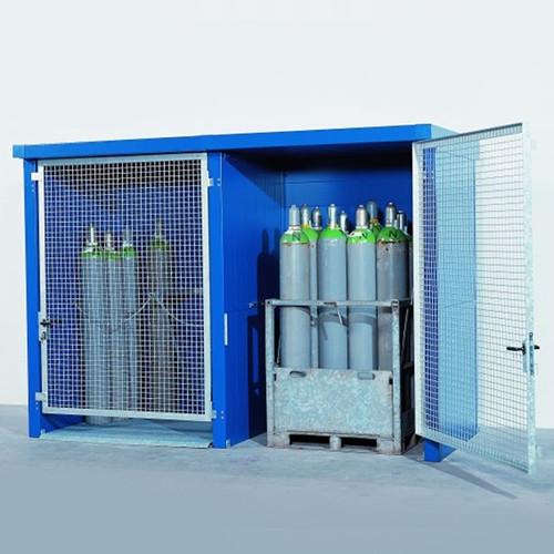 & Denios Gas Cylinder Storage Locker 2 hr Fire Rated 24 Cylinders