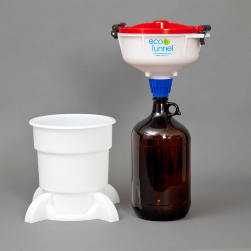 "8"" ECO Funnel System, 4L Glass bottle, Secondary Container"