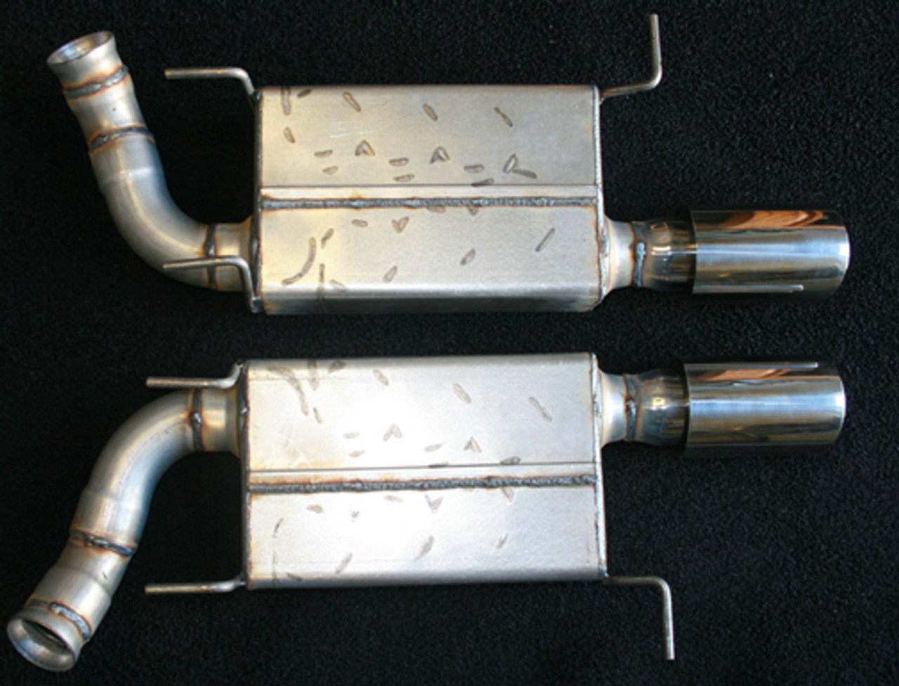 2011-2014 V8 Mustang Axle Back with 3000 Mufflers and Tips