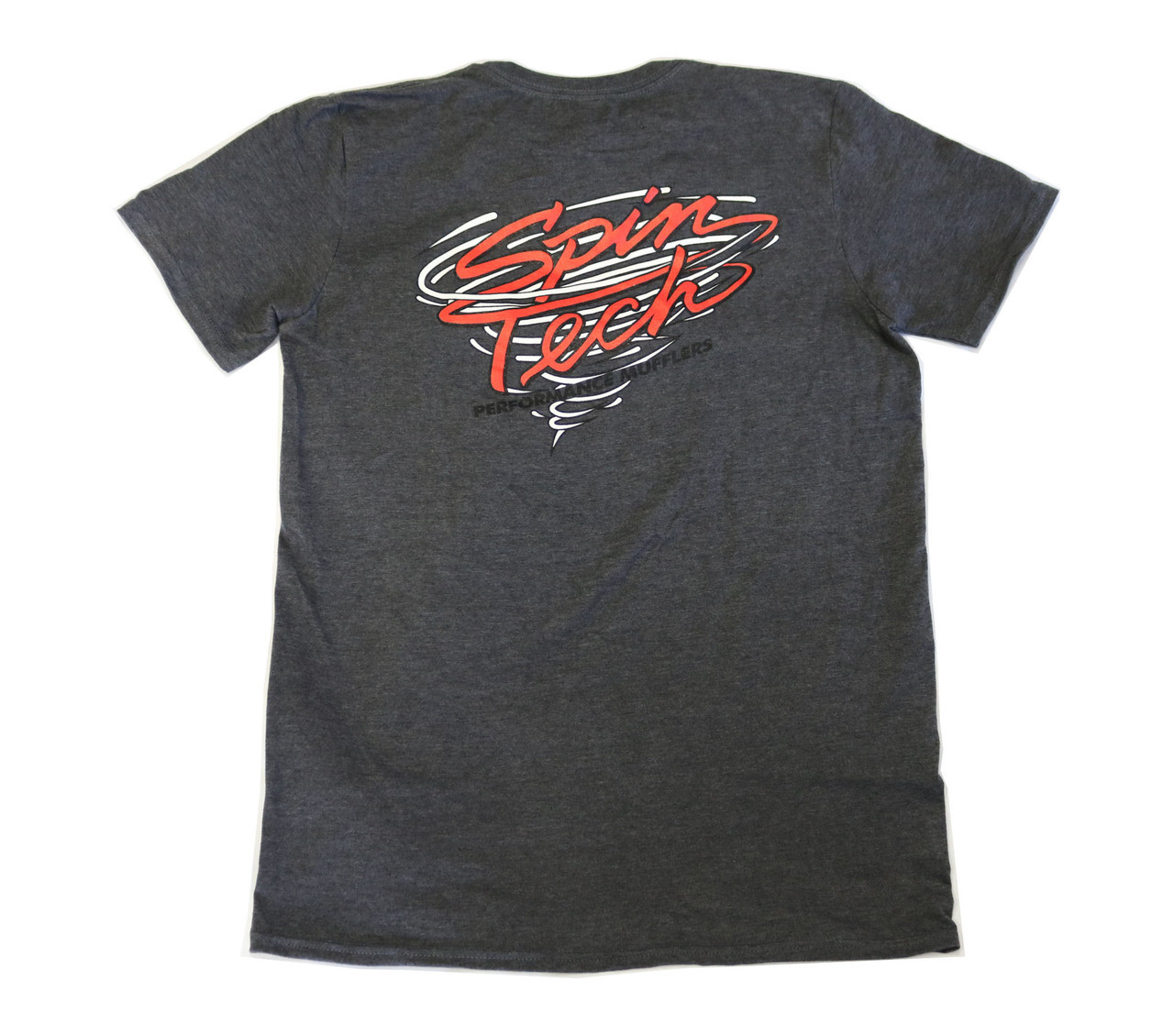 SpinTech T Shirt Dark Gray Back