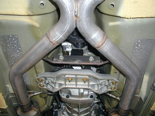 "Pontiac GTO Side Exhaust, 2.5""-3"",  X Pipe, Side Exit"