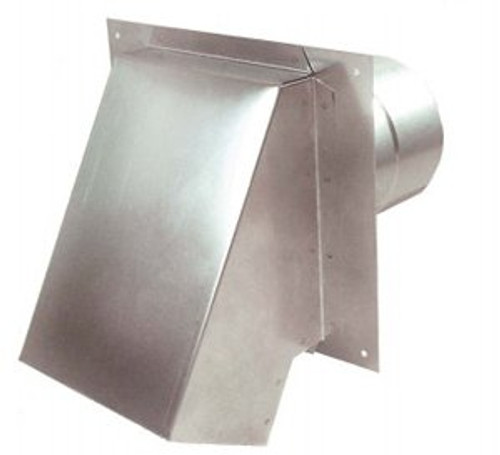 """4"""" Termination Vent Hood  with Damper"""