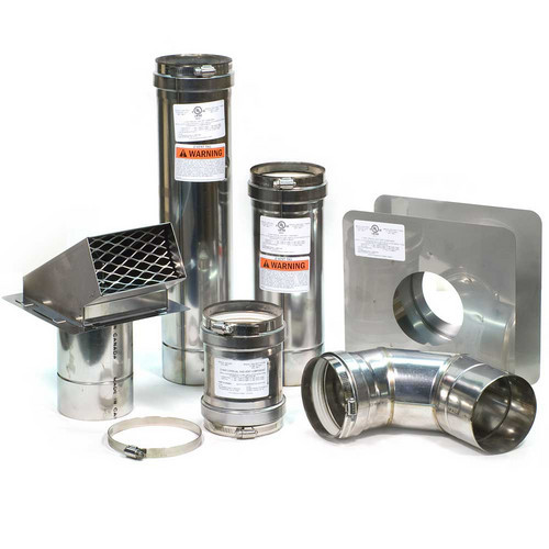 """4"""" Horizontal Z-Vent Water Heater Vent Kit with Backflow Preventer"""