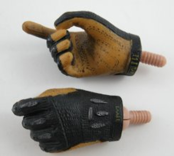 TTL - Hand - Pair Mechanix Gloves - Black/Brown