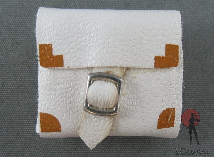 Phicen - Purse - Gold Corners - Leather - White