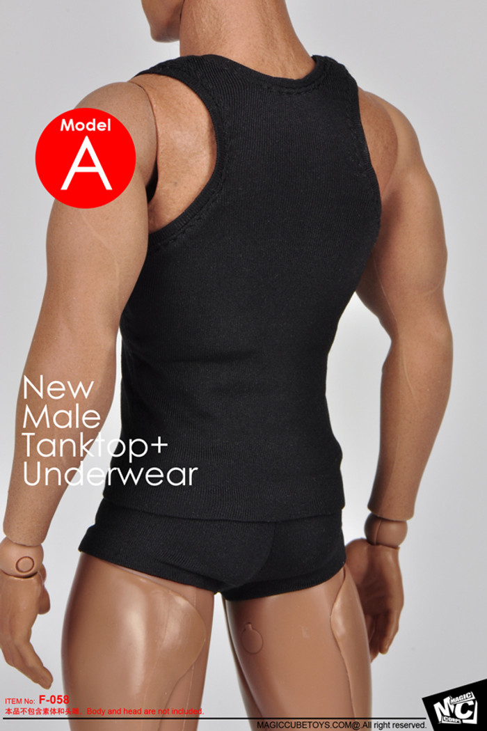 MC Toys - Male Tanktop and Underwear - Black