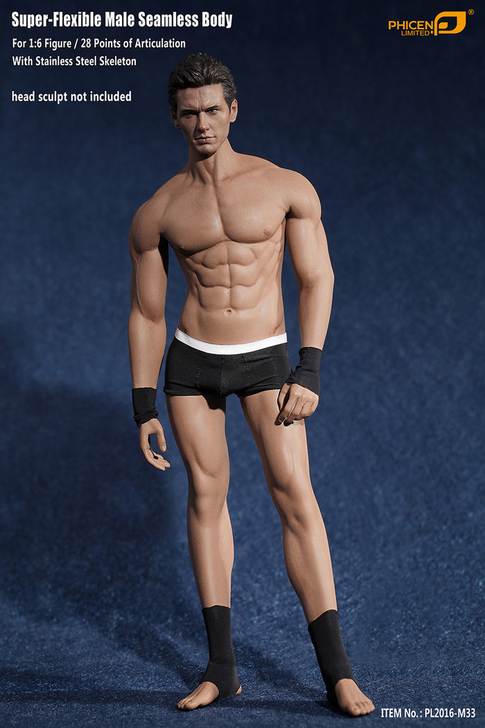 Phicen - Super Flexible Male Seamless Body - Suntan