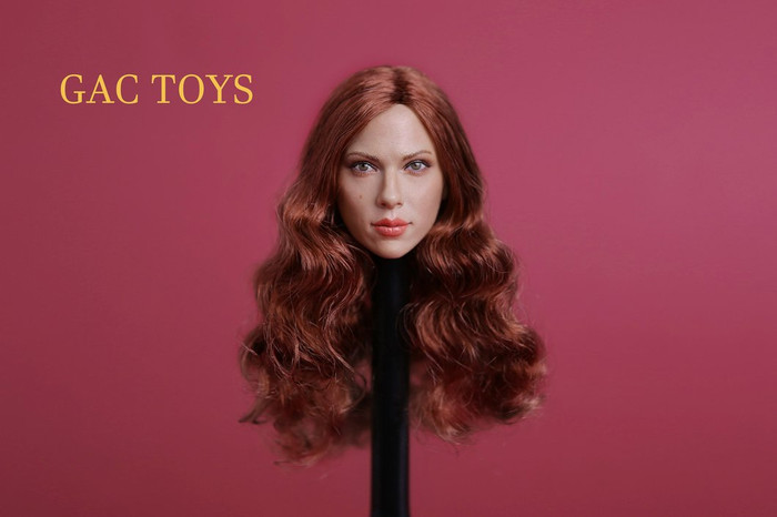 GAC Toys - European and American Women's Head Sculpture with Red Hair