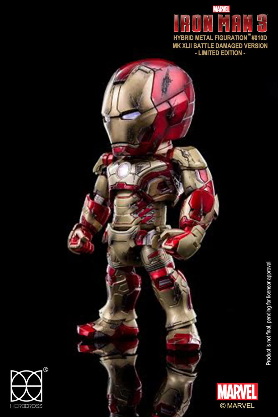 HEROCROSS - Iron Man Mark XLII Battle Damaged Limited Edition