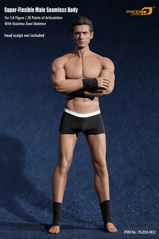 Phicen - Super Flexible Male Seamless Body - Suntan