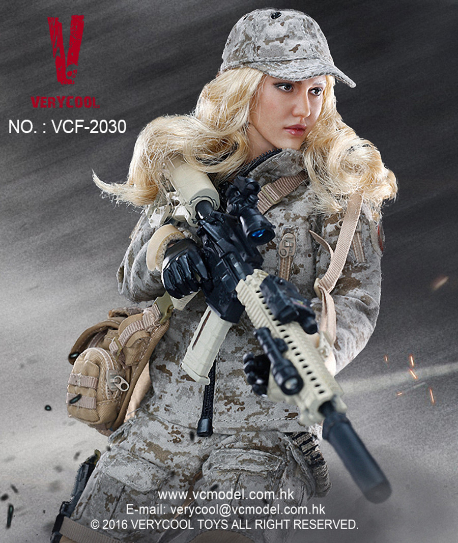 Very Cool  - Digital Camouflage Woman Soldier - Max