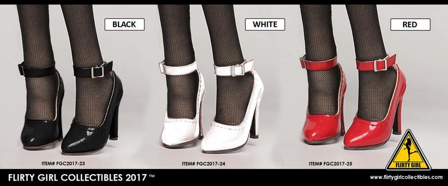 Flirty Girl - Ankle Strap High Heel Shoes - Black
