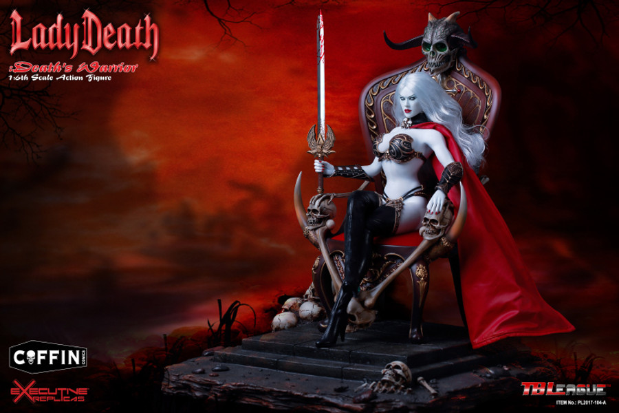 TBLeague - Lady Death: Death's Warrior V2 - Action Figure plus Throne and Base (Formerly Phicen)