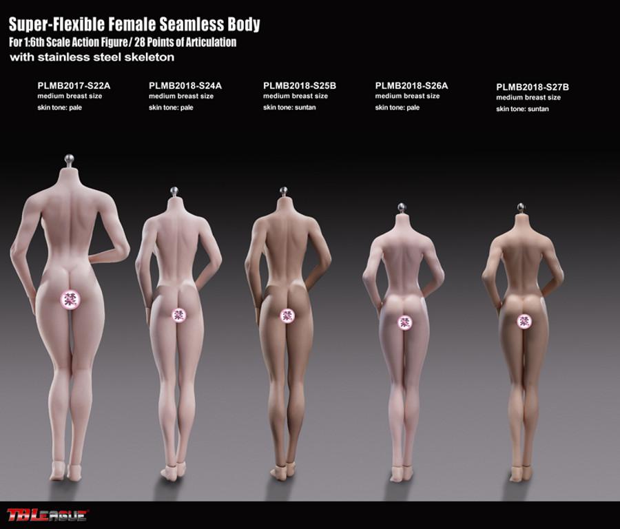 TBLeague - Super-Flexible Female Seamless Body - S25B 278mm Suntan