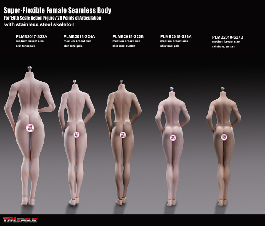 TBLeague - Super-Flexible Female Seamless Body - S27B 270mm Suntan