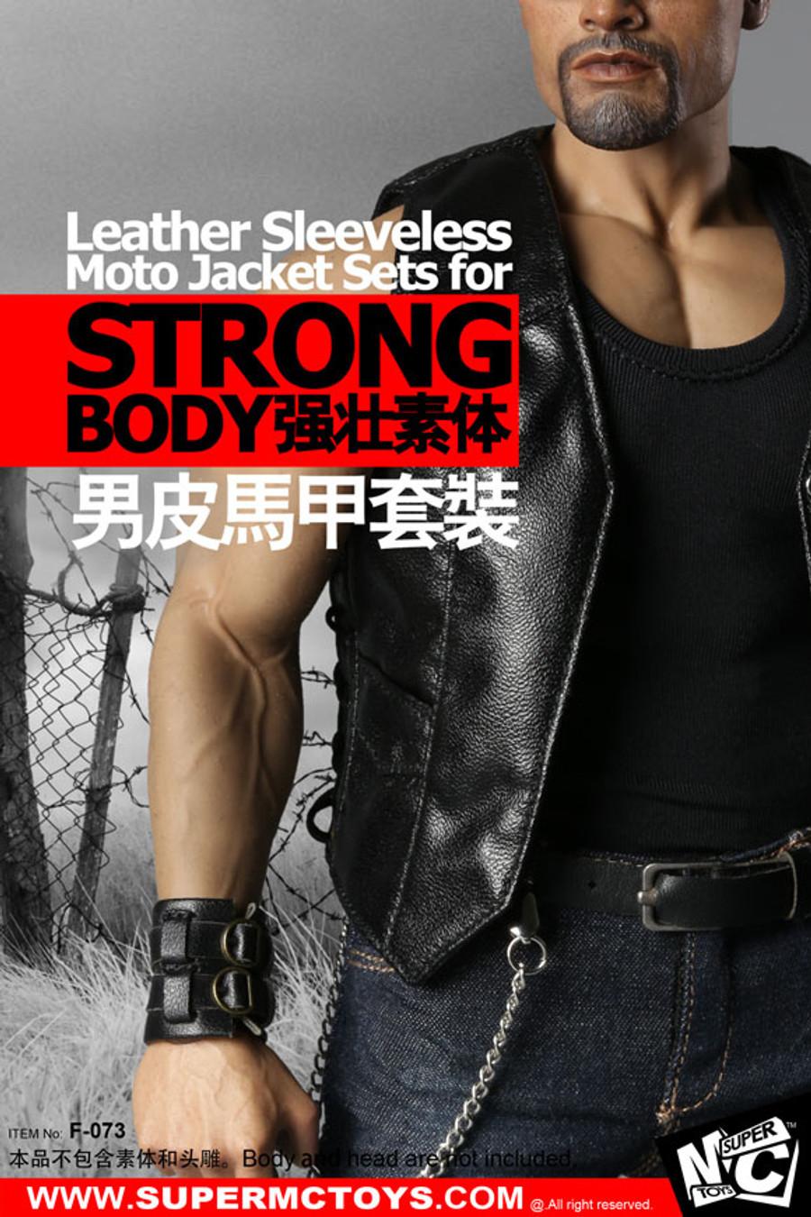 MC Toys -  Leather Sleeveless Moto Jacket Set - Male