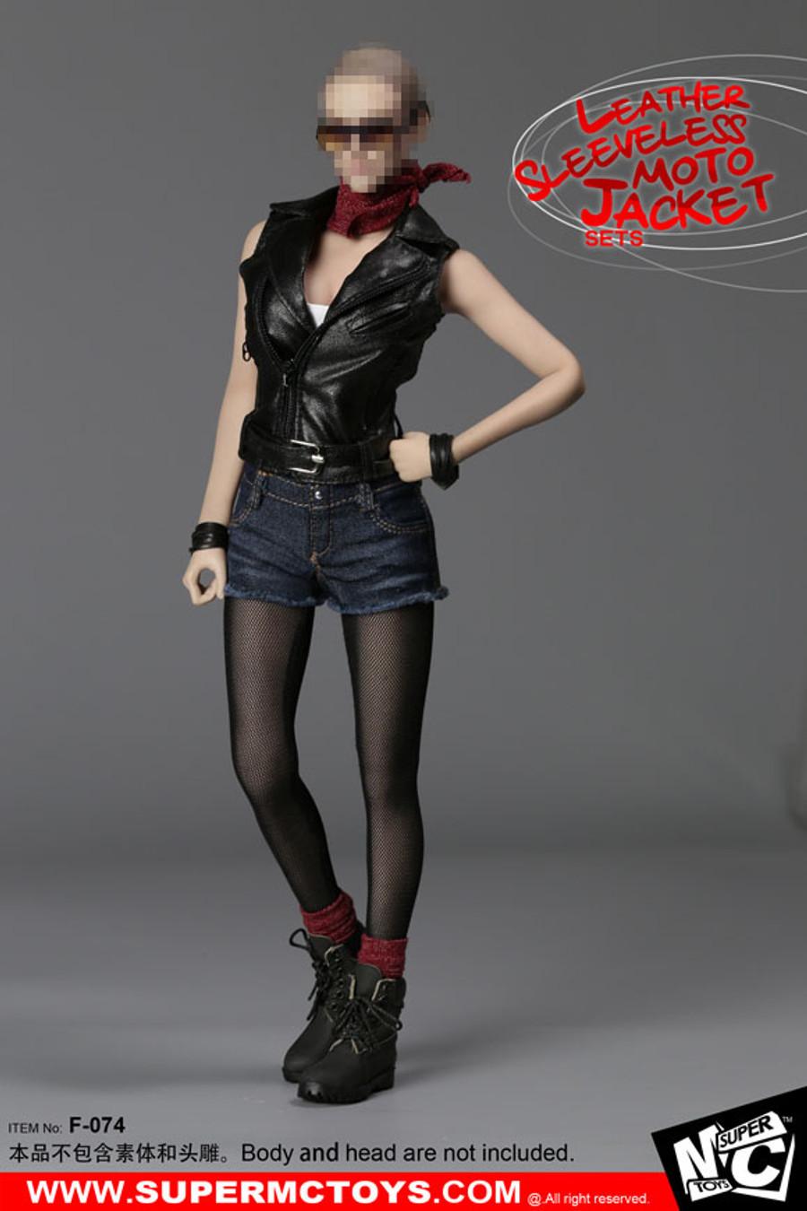 MC Toys -  Leather Sleeveless Moto Jacket Set - Female