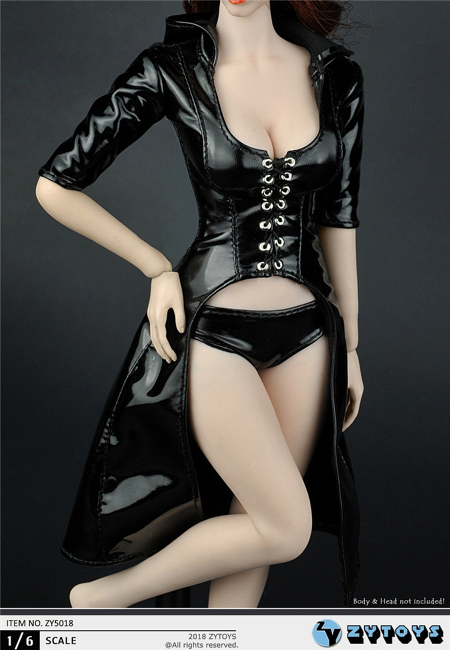 ZY Toys - Women's Leather Trench Coat