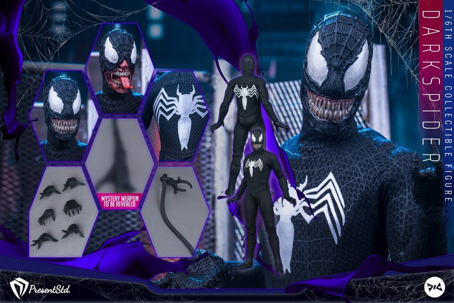Present Studio X DJ Custom - Dark Spider Figure - Standard Version