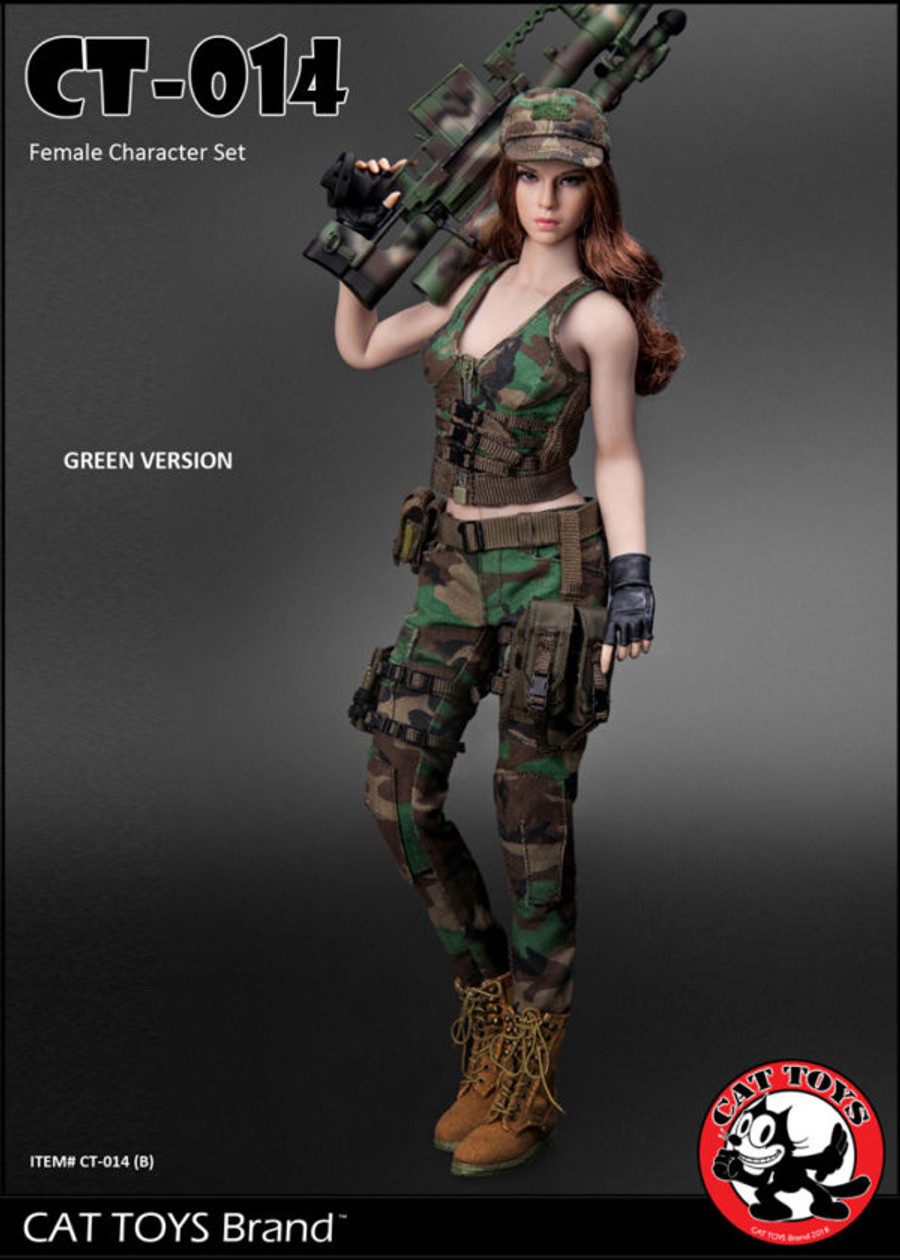 Cat Toys - Military Female Character Set