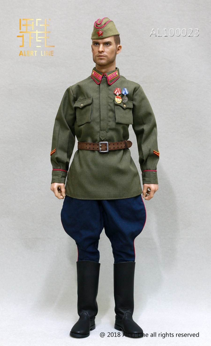 Alert Line - WWII 1942 Red Army Infantry Lieutenant Officer Set