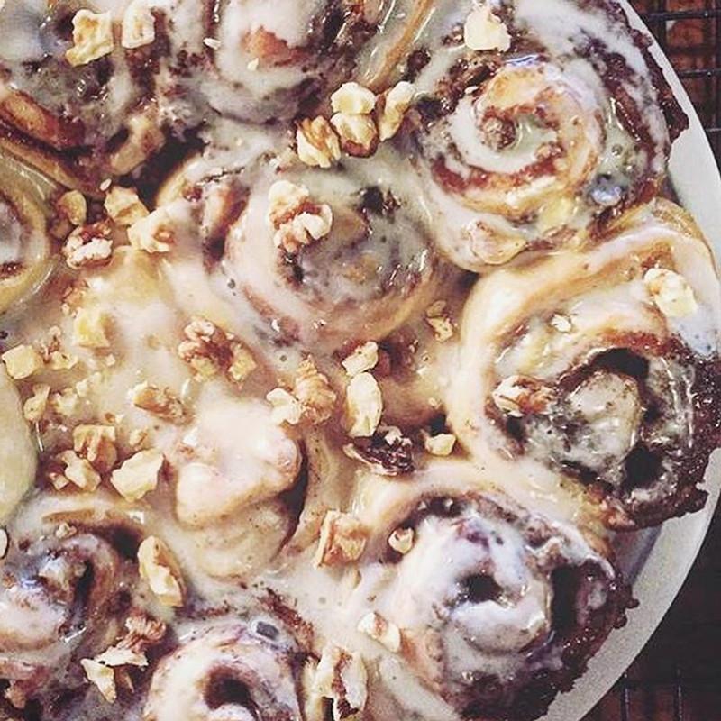 CORKY'S NUTS - Hartleys on cinnamon rolls