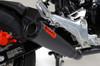 """ShortMeg 2 Full System Black Armor Coat 12"""" Muffler Grom (17-18) / MSX125 (16-18)"""