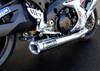 """TiWinder Polished Full System w/ 18"""" Muffler Race Baffle GSX-R1000 (07-08)"""