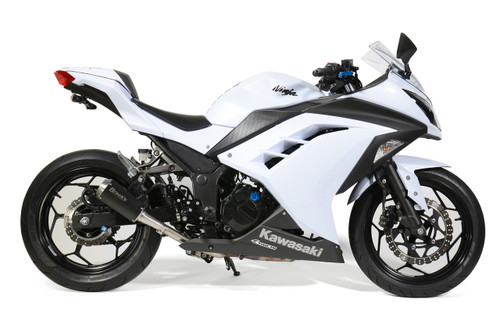 VZ9 Veloce Slip-On System with Electro-Black Muffler Ninja 300 (13-17)