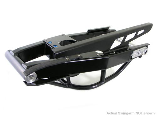 "Alumi-Pro Swingarm Black 8"" Over w/6"" Slot and NOS Tray for Hayabusa (08-18)"