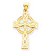 14KT Celtic Cross Pendant- 1 1/2""