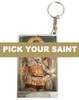 Pick-Your-Saint Icon Flashlight Keychain