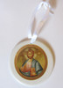 Pick-Your-Saint Ceramic Ornament- Round