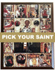 "Pick-Your-Saint Mounted Icon - 8 x 10"" with Wood Grain Decorative Edge"