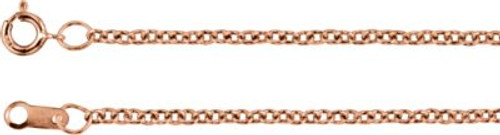 14K Rose Gold 1.5mm Solid Cable Chain- Various Lengths