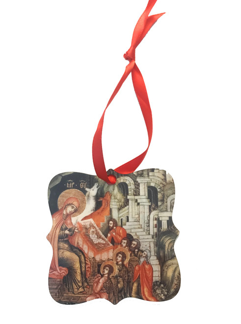 Nativity Icon II Metal Icon Ornament (Double-Sided)