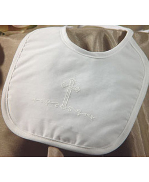 Large Polycotton Bib with Screened Cross