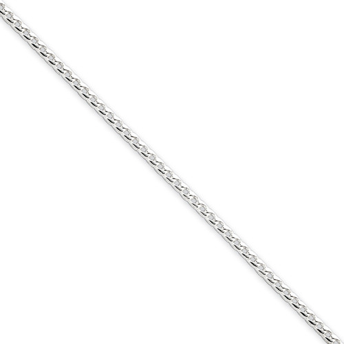 Sterling Silver 2.0mm Franco Necklace- Various Lengths