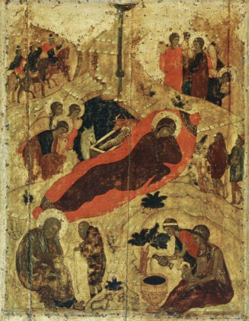 Nativity of Christ Icon- Icon IV (Rublev)