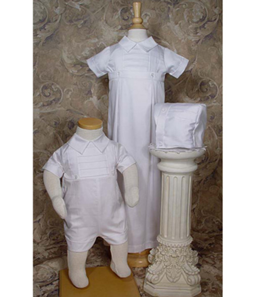 Boys 100% Cotton Convertible Christening Set