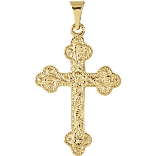 14KT Byzantine Swirl Cross