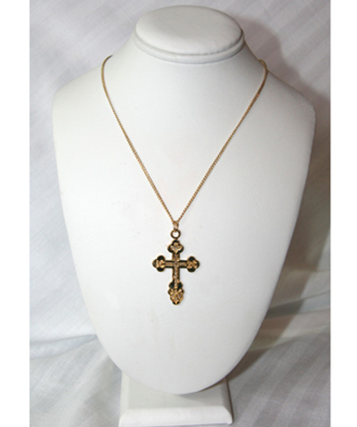 Gold Plated St. Xenia Style Cross