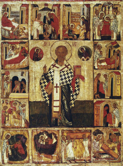 St. Nicholas Icon with Scenes- Icon IV